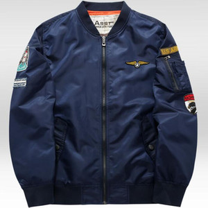 ALL'INGROSSO Grandwish MA-1 Flight Bomber Uomini 6XL patch Uomini Pilot Bomber Patch design Bomber giacche da uomo