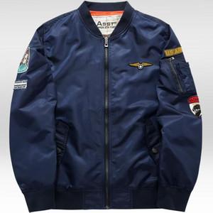 Atacado-Grandwish Ma-1 vôo Bomber Jacket Men 6XL Patches Homens Pilot Bomber Jacket patch projeto Bomber Jacket jaquetas masculinas