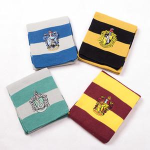 Bufanda universitaria Bufanda de Harry Potter Gryffindor / Slytherin / Hufflepuff / Ravenclaw Cuello de punto Cosplay 4 colores
