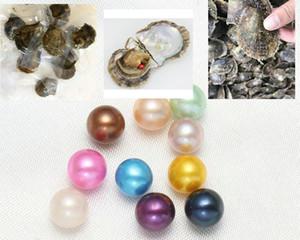 50 Adet Akoya Oyster Tuzlu Yuvarlak İnci 27 Renkler Karışık Renkler 6-7 mm kültürlü Pearl Oyster Vakum Paketleme