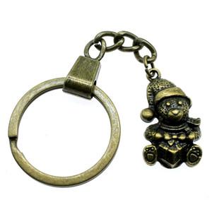 6 Pieces Key Chain Women Key Rings Car Keychain For Keys Christmas Gift Snowman 28x16mm