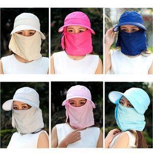 Kadınlar Güneş Geniş Bisiklet Sürüş Plajı için Brim Cap Ayrılabilir Siperlik Şapka Packable UV Koruma Yaz Şapka Yeni 81bc ZZ Caps