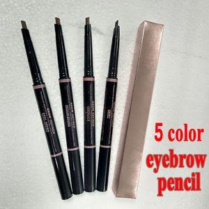 Макияж двойной карандаш для бровей бровей карандаш Crayon Ebony / мягкий коричневый / темно-коричневый / средний коричневый / шоколад Бесплатная доставка