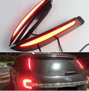 2PCS For Ford Everest 2016 2017 2018 Car LED Tail Light Rear Bumper Light LED Brake Light Auto Bulb Decoration Lamp