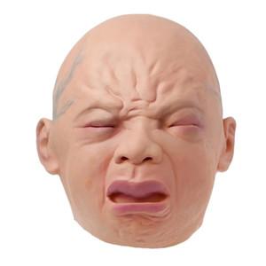 Halloween Bar Haunted House Horror Maske Realistische Weinen Baby Voller Kopf Weinen Gesichtsmasken Perücken
