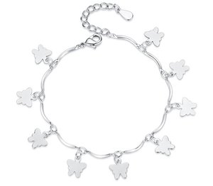Korean Version of Simple and Lovely Butterfly Fashion Silver Plated Anti Allergy Hand Accessories For Women