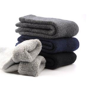Warm Men 'Winter Socks Canada 30 degrés au-dessous de zéro résistent aux chaussettes froides en laine pour les hommes épaississent les chaussettes en velours