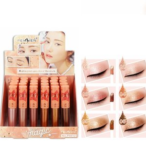 PNF новый 6 цветов длительный макияж водонепроницаемый перламутровый блестящий блеск профессиональная косметика тени для век лайнер сочетание