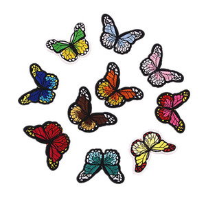 100 unids mariposa coser en parches para ropa jeans parches bordados apliques parches para niños ropa decoración 50pcs / set