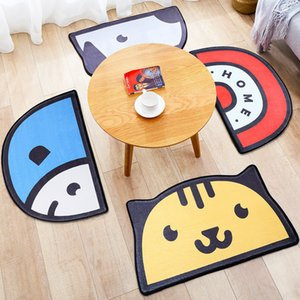50 cm * 80 cm Halbkreis Cartoon Nette Kinderzimmer Fußmatten Fußmatten - Home Küche Teppiche Schlafzimmer Tür rutschfeste Wasserabsorbierende Bodenmatte