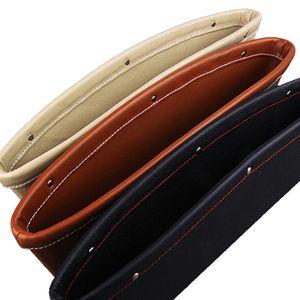 2 conjunto de couro PU carro organizador de bolso assento Console Gap Filler Side - Parar antes de cair