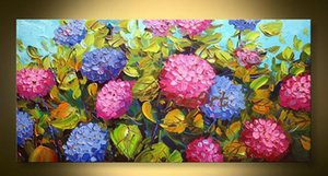 hand painted wall art modern oil painting knife canvas heavy texture hand-painted abstract flower painting unique gifts Kungfu Art