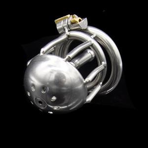 Dispositivo di castità maschile di castità del gabbia del gabinetto dell'acciaio inossidabile del catetere del suono del catetere del blocco del pene del catetere del rasoio Prodotti del sesso