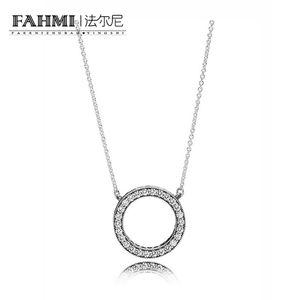 FAHMI 100% Argent Sterling 1: 1 Original 590514CZ Collier de Charme Authentique De Mode Généreux De Mode Glamour De Mariage Femmes Bijoux