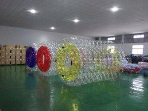 Бесплатная доставка 2.4*2.2 м надувные воды ролик мяч ходить на воде ролик колеса для взрослых или детей бесплатно насос