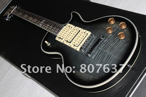 Nuevo estilo de Ace Frehley Signature Guitar, Ebony Diapasón Ace Frehley 3 pastillas Guitarra eléctrica, cuerpo de caoba Flame Maple