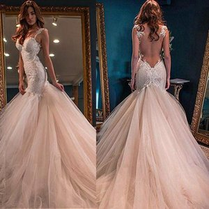 Exquisite Tulle & Lace Sweetheart Neckline Mermaid Evening Dresses With Sexy Illusion Lace Appliques Prom Party Dresses Evening Gowns