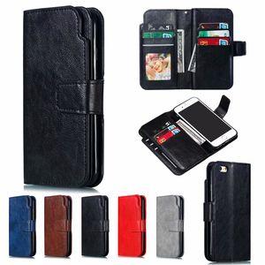 Mais novo cartão Nine Retro Mobile Phone capa para iPhone XS Max X 8 7 Plus Multi-Cartão de posição Lens Proteção Carteira S9 S8 Além disso,