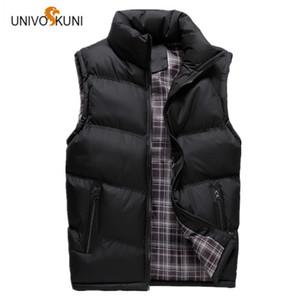 UNIVOS KUNI Neue 2017 Herbst Winter Mann Westen Freizeit Mode Feder Baumwolle Warm Sleeveless Jacken Mann Oberbekleidung Mäntel O126