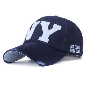 Unisex moda pamuk beyzbol şapkası snapback şapka erkekler kadınlar için güneş şapka kemik gorras ny nakış bahar kap toptan
