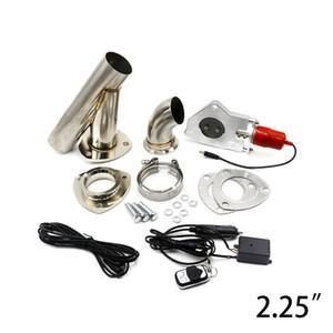 Válvula de control de escape de 2.25 pulgadas con control remoto Válvula de escape eléctrica de acero inoxidable Recortes Recorte de escape