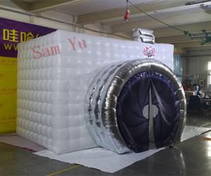 Aufblasbarer Photo Booth LED Luftgebläse-Würfel der hohen Qualität Aufblasbarer Studio Stand mit bunter LED