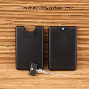 1000 adet / grup Promosyon Boş 20 ml Plastik Siyah Kredi Kartı Şekil Cep Parfüm Şişesi Kadın Kozmetik Konteyner Küçük Sprey Ambalaj