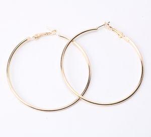 100 мм супер сексуальный негабаритных золото серебро цвет большой круг Хооп серьги Bijoux геометрические серьги для женщин