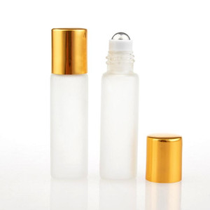 5ml Clear Frosting Glass Roller Bottles Roll On Bottle Container with Glass Ball for Essential Oil  Perfumes Lip