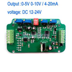 Бесплатная доставка 0-5В 0-10В 4-20MA Датчик тензодатчика Усилитель Весы Преобразователь тока преобразователь напряжения тока Рабочее напряжение: 12-24В постоянного тока