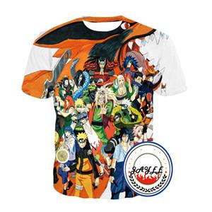 Impressão 3D T Shirt Tee Manga Curta NARUTO Impresso T-shirt Super Cool T-shirt Dos Homens Das Mulheres T-shirt 12 estilos Top
