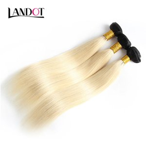 9A Bleach Blonde Ombre 1B / 613 # Armadura brasileña recta del pelo humano de la Virgen Paquetes Extensiones peruanas del pelo de Ombre del camboyano de la India peruana
