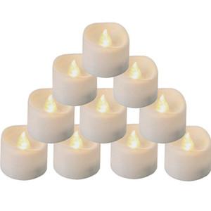 Flackernde LED flammenlose Kerze Träne Kerzen gelbe gelbe Birne elektrische gefälschte Votive Kerze für Halloween Weihnachten Hausgarten Dekor