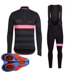 RAPHA ekibi Bisiklet uzun Kollu jersey önlüğü şort setleri Bisiklet Giyim Çabuk Kuru Bisiklet Sportwear Ropa Ciclismo 100809F