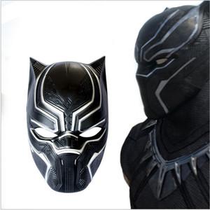 Veloce spedizione gratuita New Black Panther Mask Movie Fantastic Four Cosplay Maschera di plastica per Party Carnaval Purim festa di Halloween