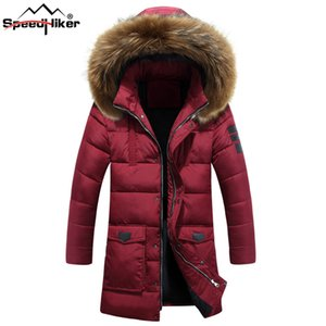 Speed ​​Hiker Winter Jacket Hombres Espesar Mid-long Parkas Warm Cotton-padded Outwear chaqueta abrigo jaqueta masculina M-3XL