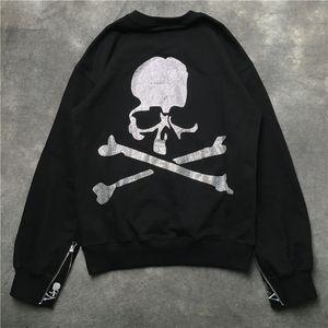 MMJ Skull Printed Pullover Mens Womens Casual Pullover sottile Maschio femminile Hip Hop Designer Felpe magliette a maniche lunghe