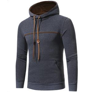 Hoodies Men 2017 Brand Male Long Sleeve Solid Color Hooded Sweatshirt Mens Hoodie Tracksuit Sweat Coat Casual Sportswear M-3XL