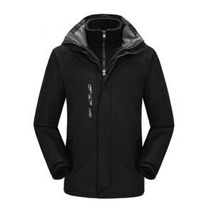 2018 chaqueta de senderismo de los hombres a prueba de agua sudaderas con capucha de snowboard traje de esquí de montaña al aire libre para los hombres 3 en 1 térmica chaquetas de camping
