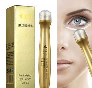 24 K Ouro Colágeno Creme Para Os Olhos Deslizante Bola Essência Olho Revitalizante Soro Remover Círculo Bolsa Hidratante Endurecimento