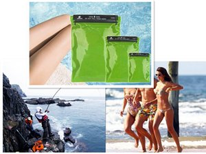one set 3pcs Waterproof Dry Bags Cover Case for Camera Mobile Phone Pouch Backpack Kayaking Military Green