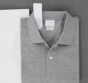 2019 Summer Men 's Polo Shirts Short Sleeve Crocodile 자수면 Slim Fit 캐주얼 Business 망 Brand classic 티 size S-6XL Navy