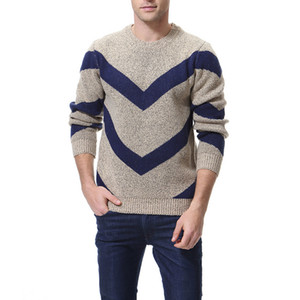 Мужской дизайнер свитер Осень Зима повседневная панелями круглый вырез с длинным рукавом вязаный пуловер Азиатский размер M-3XL