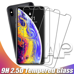 Temperado tela de vidro protetor para New Iphone 12 11 Pro XR XS MAX X 8 Plus Samsung Galaxy S9 LG V20 Sem Package