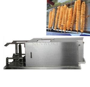 Entièrement automatique tronçonneuse électrique Twister Tornado Slicer Machine; machine de coupe de pommes de terre en spirale de pommes de terre; trancheur en spirale