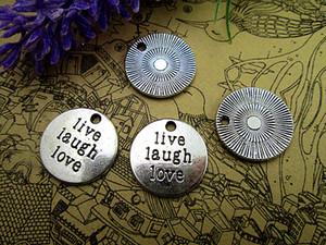 36шт Live Laugh Love Подвески античный тибетский серебряный тон 20мм