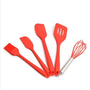5Pcs Utensili da cucina in silicone Pastry Cooking Cooking Raschietto Set di utensili per olio sano Spatole per bastoncini