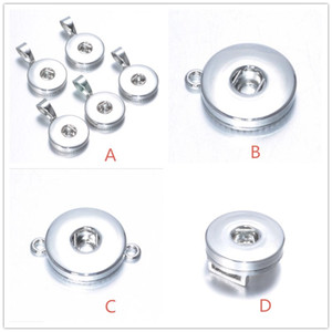 4Styles 18MM Snap Button Base pour DIY Ginger Snap Bouton Collier Bracelet Boucles D'oreilles Bijoux Accessoire