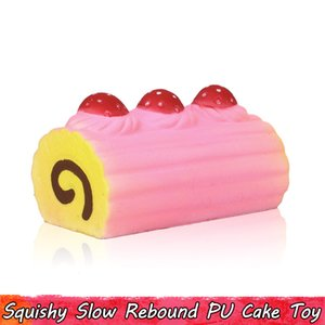 1 UNIDS Yummy Simulación Cake Squishy Slow Rising Toys Squishies Squeeze Juguete Suave Ornamento Anti Estrés Regalo para Todas las Personas Fragancia Decorar