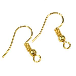 Wholesale 1000Pcs Earring DIY Hooks Gold Bronze Silver Ear wire Clasp Accessories Women Beauty Earring Making Holder Hook Fittings